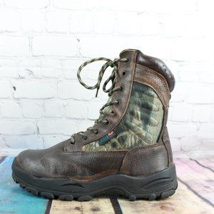 ITASCA Camo Waterproof Hunting Boots Vibram Sz 7.5